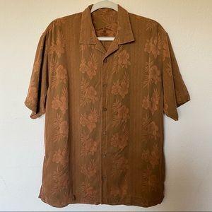 Tommy Bahama 100% Silk Hawaiian Floral Shirt